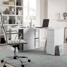 1m Schreibtisch Eck Schreibtisch Samiera Weiß Hochglanz Weiß Home24