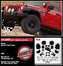lift kits for jeep wrangler amazon com readylift 69 6000 sst mild lift kit automotive