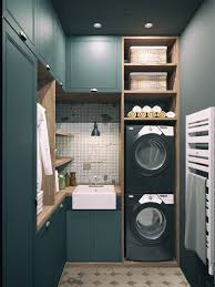 fabulous ideas how add color your laundry room homelovr dark green laundry room