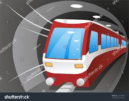 cartoon illustration subway train stock vector 222273580