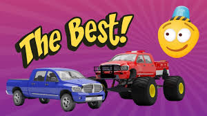 videos of monster trucks for kids tuning pickup truck into a fire truck tuning cars for kids