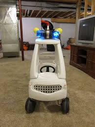 turns cozy coupe car into a ghostbusters ecto 1