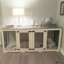 dog kennel side table wow this the best dog crate idea we have ever seen love this