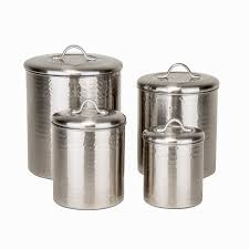 Beautiful Kitchen Canisters Amazon Com Old Dutch 4 Piece Hammered Canister Set Brushed