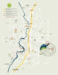 downtown bend oregon map