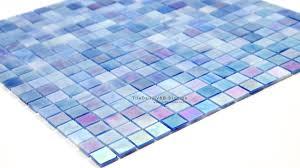 iridescent blue opaque glass mosaic sale tiledaily tile
