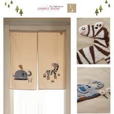 Zebra Room Divider Sewcrane Honeycomb Fabric Curtain Embroidery Design Elephant Zebra