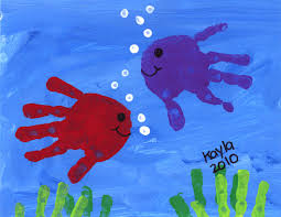 hand print fish best selling artwork pinterest hand print