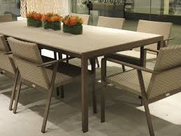 Resin Wood Outdoor Furniture by Elements Dining Table Made Of Resinwood And Powder Coated Aluminum