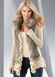 fur sweater venus faux fur ruffle sweater in multi
