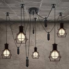 industrial style lighting 5 lights country style industrial kitchen lighting pendants
