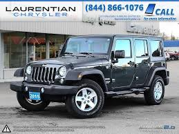 jeep unlimited green pre owned 2015 jeep wrangler unlimited sahara features with a 100k