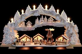 candle arch christmas market with snow variable 72 43 13 cm