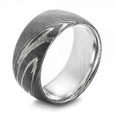 damascus steel men s wedding ring 103119