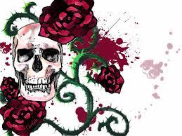 skull roses by ingridcharlotte on deviantart