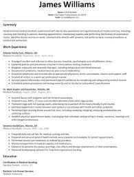 resume templates for medical assistants medical assistant resume sle resumelift resume exles medical