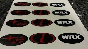 wrx subaru logo steering wheel badges precut emblem overlays set of 3