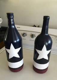 patriotic wine bottles mason jar u0026 wine bottle crafts
