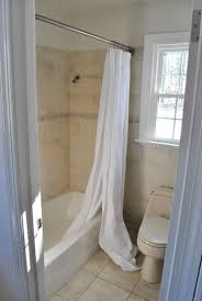 Shower Curtain Rod Round - amazing hanging our shower curtain higher ah much better young