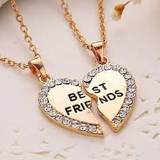 shaped pendant necklace images N2022 charming matching heart shaped pendant necklace best friend jpg