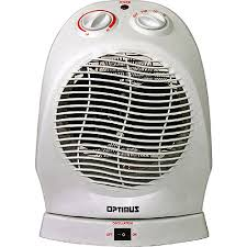 oscillating fan and heater optimus electric portable 2 speed oscillating fan heater with