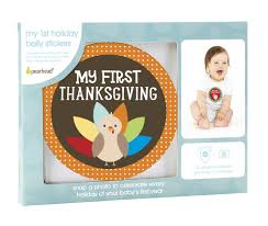 My 1st Thanksgiving Pearhead My First Holiday Belly Stickers From The Stork Nest