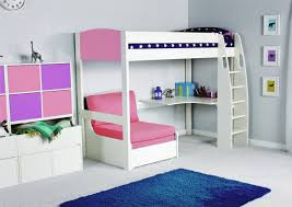 stompa unos high sleeper frame with desk and chair bed only boys