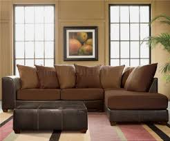 Leather And Suede Sectional Sofa Sofa Modern Sectional Sofas Gray Sectional Large Sofa Brown