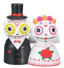 sugar skull cake topper groom day of dead dia de los muertos wedding cake