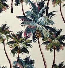 Tropical Home Decor Fabric Palm Tree Fabric Hawaiian Upholstery High Quality Bark Fabric