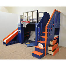 Bunk Beds With Slide And Stairs The Ultimate Basketball Bunk Bed Backboard Slide And More