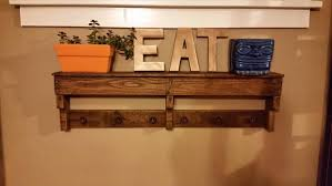 diy easy pallet shelf and coat rack wooden pallet furniture