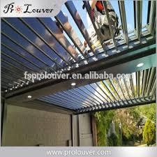 Glass Pergola Roof by Motorized Waterproof Aluminum Pergola Roof Aluminum Louvres Buy