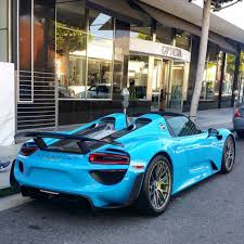 voodoo blue porsche porsche 918 spider painted in paint to sample riviera blue photo