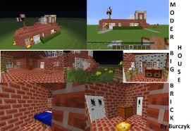 modern brick house modern houses 2 modern big brick house minecraft project