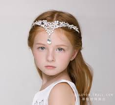 flower girl hair accessories children s luxury flash hair accessories headdress
