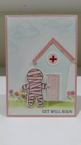 cookie cutter halloween by stampin up get well soon get well