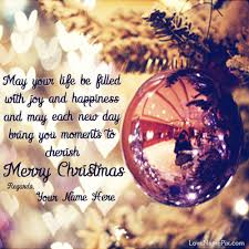 write any name on beautiful wishing you merry quotes image