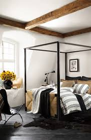 Striped Canopy by Ralph Lauren Home U0027s Four Post Canopy Bed With Head And Footboards