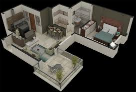 dlf new town heights floor plan artyug design studio pvt ltd india 3d floorplan render