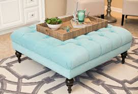 Light Blue Tufted Ottoman Charming Light Blue Tufted Ottoman 88 For Small Home Remodel Ideas