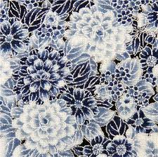robert kaufman fabric with blue flowers from the usa flower