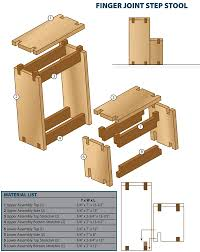 plans for finger joint step stool step stool pinterest