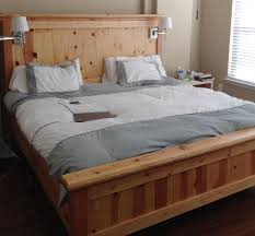 Headboards With Built In Lights Wooden King Size Bed Frame With Headboard And Footboard