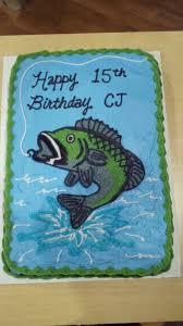 bass fish cake bass fish birthday cake cakecentral