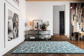 Bay Area Rugs Rugs Bay Area Square Blue Green Blue White Triangle Circle Pattern