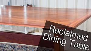 Floor Dining Table Building A Jarrah Dining Table From Reclaimed Floor Boards Youtube