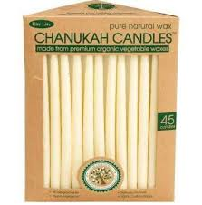 hanukkah candles hanukkah candles organic vegetable wax ivory menorah