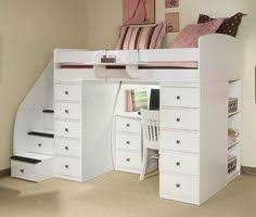 Double Size Loft Bed With Desk Perfect2l Full Size Low Loft Bed With Stairs U0026 Desk White By