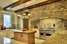 inventive kitchens with stone walls kitchen kitchen units stacked